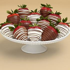 Full Dozen Swizzled Strawberries