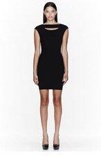 MUGLER Black Stretch Cutout Milano Mini Dress for women