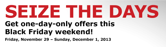 Get one-day-only offers this Black Friday weekend!