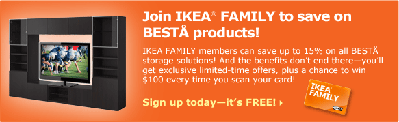 Join IKEA FAMILY to save on BESTÅ products!