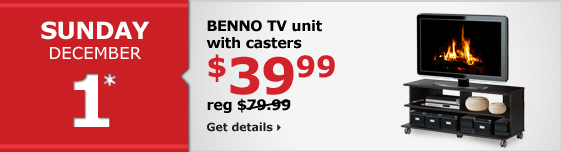 BENNO TV unit with casters