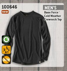 Men's Base Force Cold Weather Crewneck Top