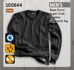 Men's Base Force Super-Cold Weather Crewneck Top