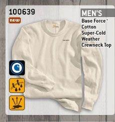 Men's Base Force Cotton Super-Cold Weather Crewneck Top