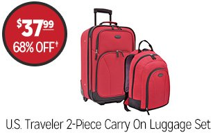 U.S. Traveler 2-Piece Carry On Luggage Set - $37.99 - 68% off‡