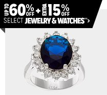 Up to 60% off + Extra 15% off Select Jewelry & Watches**