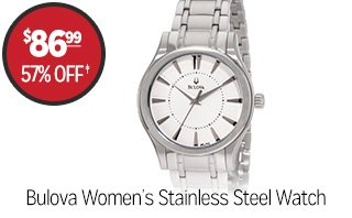 Bulova Women's 'Dress' Stainless Steel Quartz Watch - $86.99 - 57% off‡