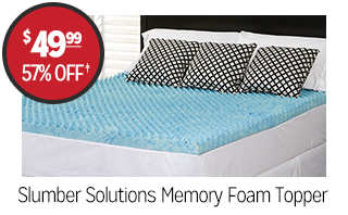 Slumber Solutions Memory Foam Topper - $49.99 - 57% off‡