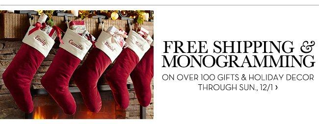 Free Shipping & Monogramming