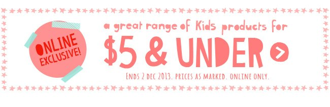 Kids Products $5 and under