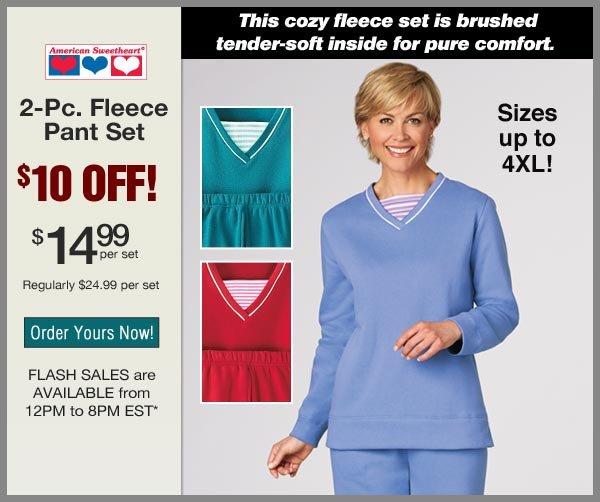 $10 OFF 2-Pc. Fleece Pant Set