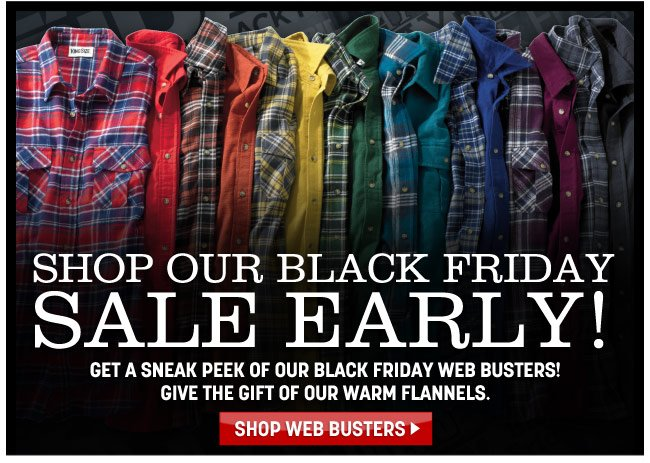 shop our black firday sale early! - shop web busters