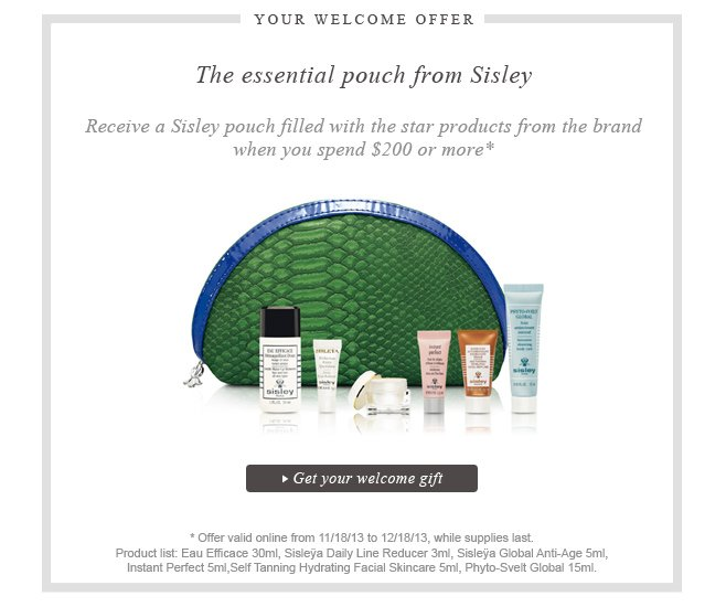 Sisley Paris - Welcome offer