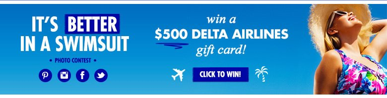 Win A $500 Delta Airlines Gift Card - click to win