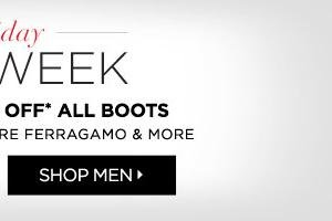 Holiday Chic Week Men's Boots