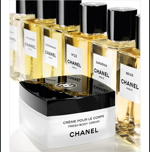 A FRAGRANT PAIRING Complement your favorite scent from LES EXCLUSIFS DE CHANEL with the sumptuous FRESH BODY CREAM.
