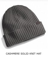 CASHMERE SOLID KNIT HAT