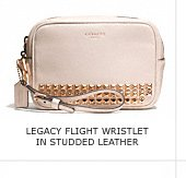 LEGACY FLIGHT WRISTLET IN STUDDED LEATHER