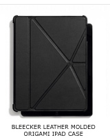 BLEECKER LEATHER MOLDED ORIGAMI IPAD CASE