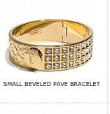 SMALL BEVELED PAVE BRACELET