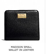 MADISON SMALL WALLET IN LEATHER
