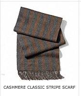 CASHMERE CLASSIC STRIPE SCARF