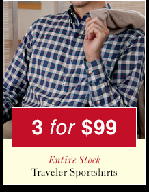 Traveler Sportshirts - 3 for $99