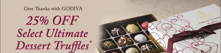 Give Thanks with GODIVA | 25% off Select Ultimate Truffles*
