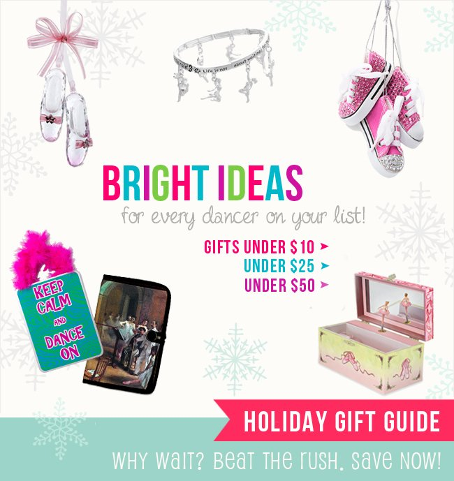 Shop the holiday gift guide for dancers