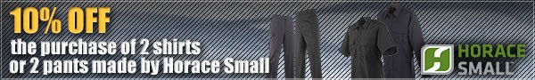 10 percent off your order of 2 Horace Small Shirts or 2 Horace Small Pants