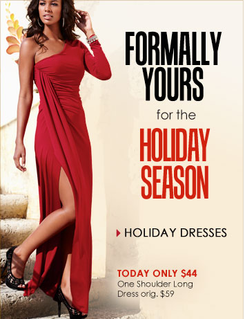 Look your PARTY BEST! SHOP Holiday Dresses!