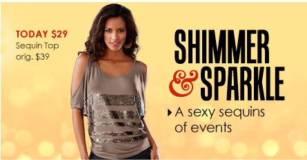 SHOP Shimmer and Sparkle!
