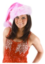 Pink Striped Santa Hat