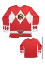 Red Power Rangers Long Sleeve Costume Shirt