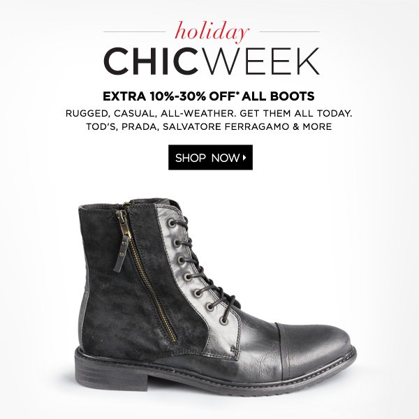 All Boots Up to 30% Off