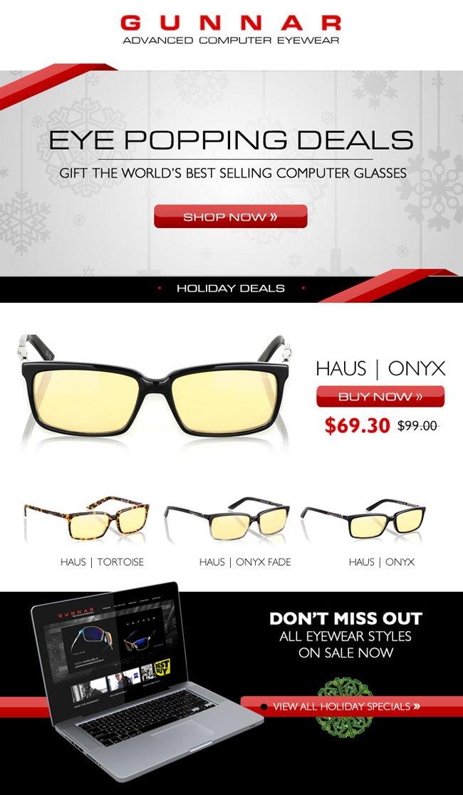 Eye Popping Deals | 30% off GUNNAR Haus Computer Glasses