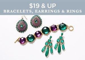 $19 & Up: Bracelets, Earrings & Rings