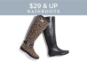 $29 & Up: Rainboots