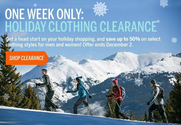ONE WEEK ONLY: Clothing Clearance