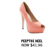 Peeptoe Heel Now $41.96