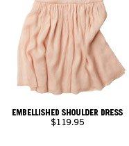 Embellished Shoulder Dress $119.95