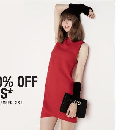 TAKE 30% OFF DRESSES
