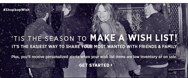 Make a wishlist! >>