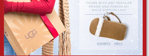 Last chance! Shop the season's must-have styles from UGG® Australia for women and men and enjoy a FREE ultra-suede wristlet with any regular price purchase.* Plus, save 20% on custom-fit ABEO 3D3 Orthotics.** Shop now to find the best selection online and in-stores at The Walking Company.