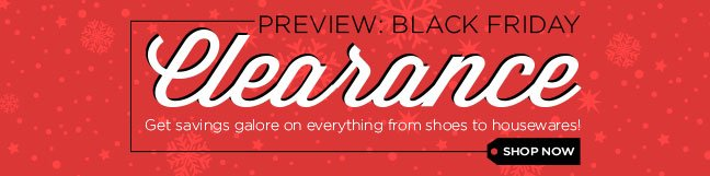 Shop Preview: Black Friday Clearance