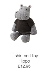 T-shirt soft toy hippo