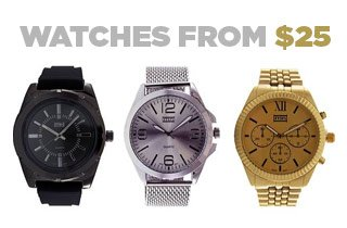 Marketplace: Watches from $25