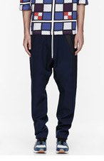 UMIT BENAN Black & navy low-rise lounge pants for men