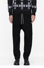 UMIT BENAN Black low-rise lounge pants for men