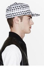 UMIT BENAN White polka dot cap for men